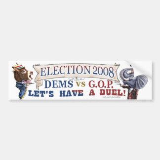 Mascot Political Duel Election 2008 bumper Bumper Sticker