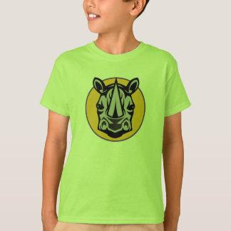 mascot rhino circle design T-Shirt
