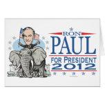 Mascota 2012 del GOP de Ron Paul Felicitacion