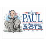 Mascota 2012 del GOP de Ron Paul Tarjetas Postales