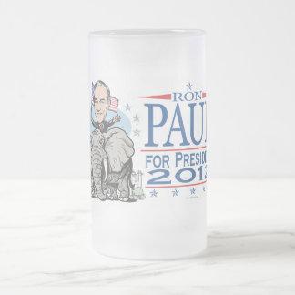Mascota 2012 del GOP de Ron Paul Taza De Cristal