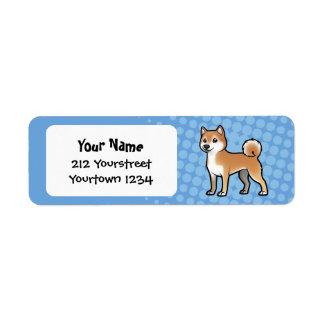 Mascota adaptable etiqueta de remitente