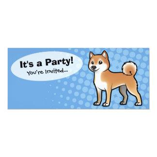 """Mascota adaptable invitación 4"""" x 9.25"""""""