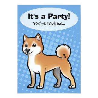 """Mascota adaptable invitación 5"""" x 7"""""""