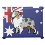 Mascota adaptable lindo en bandera de país