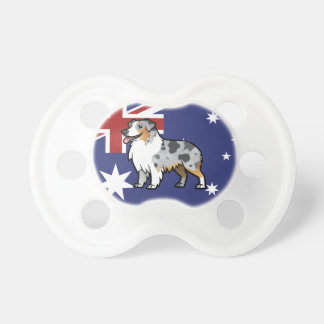 Mascota adaptable lindo en bandera de país chupetes para bebés