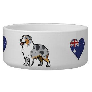 Mascota adaptable lindo en bandera de país comedero para mascota
