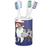 Mascota adaptable lindo en bandera de país sets de baño