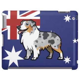 Mascota adaptable lindo en bandera de país funda para iPad