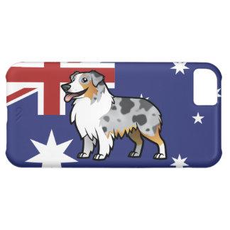 Mascota adaptable lindo en bandera de país funda para iPhone 5C