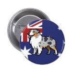 Mascota adaptable lindo en bandera de país pins
