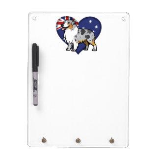 Mascota adaptable lindo en bandera de país pizarras