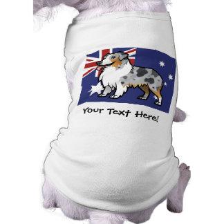 Mascota adaptable lindo en bandera de país playera sin mangas para perro