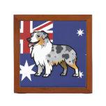 Mascota adaptable lindo en bandera y la foto de pa