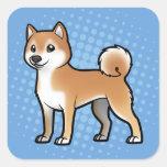 Mascota adaptable calcomanía cuadradas personalizadas