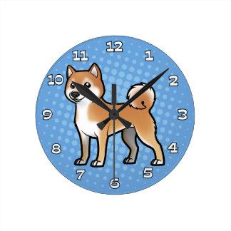 Mascota adaptable reloj de pared