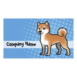 Mascota adaptable tarjetas de visita