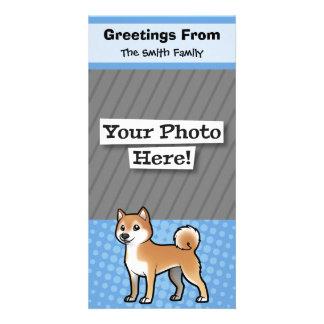 Mascota adaptable tarjeta con foto personalizada
