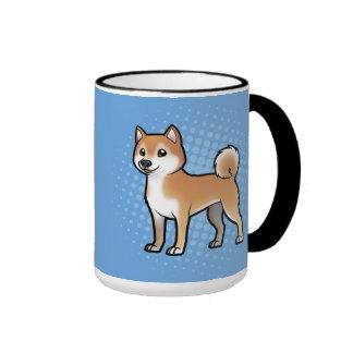 Mascota adaptable taza de dos colores