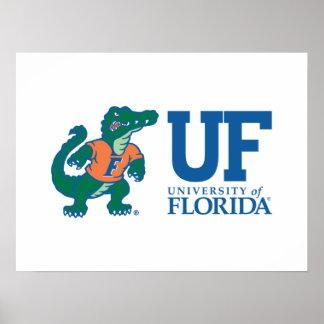 Mascota Albert - color de la Florida Posters
