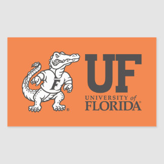 Mascota Albert del uF Pegatina Rectangular