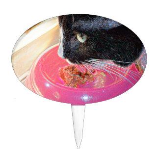 mascota animal del gato de la cabeza del rosa de figuras de tarta