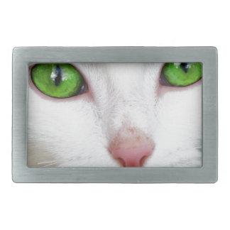 mascota animal del gato hebilla de cinturón rectangular
