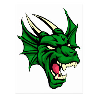 Mascota animal mala del dragón tarjetas postales