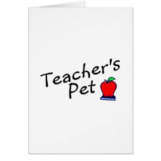 Mascota Apple de los profesores Tarjeta De Felicitación