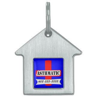 Mascota asmático de la plantilla del nombre del an placa mascota