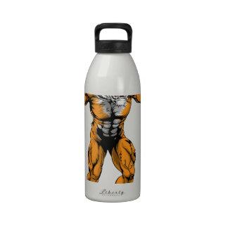 Mascota asustadiza de los deportes del tigre botella de agua reutilizable