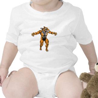 Mascota asustadiza de los deportes del tigre traje de bebé