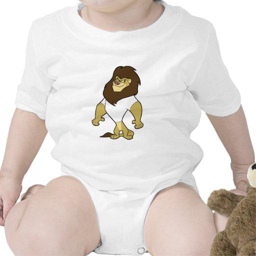 Mascota - blanco del león traje de bebé