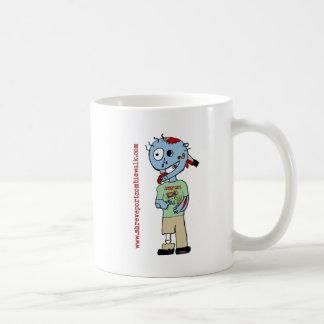 """Mascota """"Bub """" del paseo del zombi de Shreveport Taza Básica Blanca"""