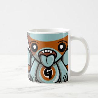 Mascota codiciosa taza de café