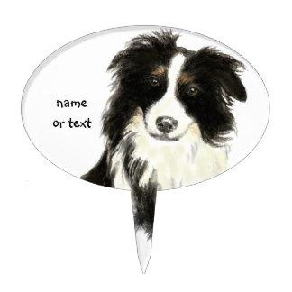Mascota conocido de encargo del perro del border c figura de tarta