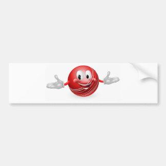 Mascota de la bola de grillo etiqueta de parachoque