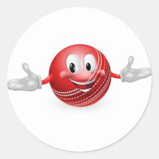Mascota de la bola de grillo pegatinas redondas