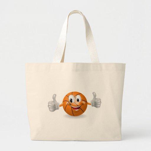 Mascota de la bola de la cesta bolsa de mano