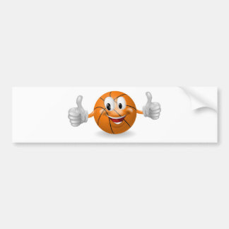 Mascota de la bola de la cesta etiqueta de parachoque