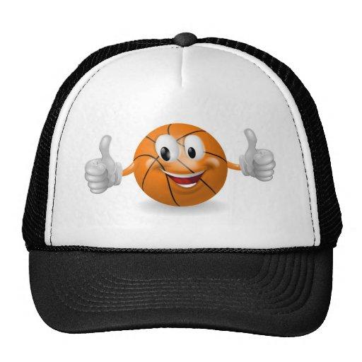Mascota de la bola de la cesta gorras