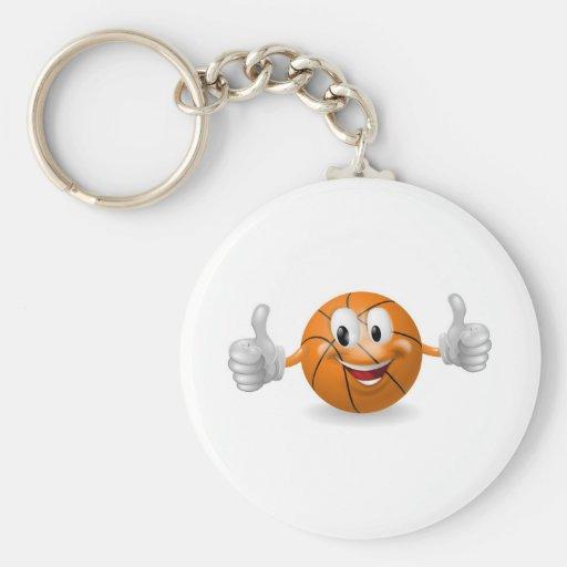 Mascota de la bola de la cesta llaveros personalizados
