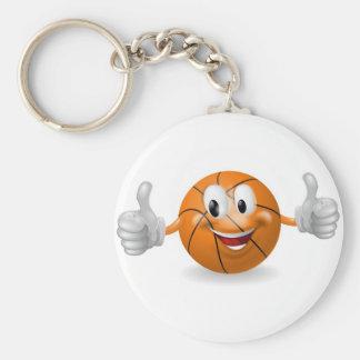 Mascota de la bola de la cesta llavero personalizado