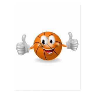 Mascota de la bola de la cesta tarjeta postal