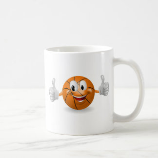 Mascota de la bola de la cesta tazas de café