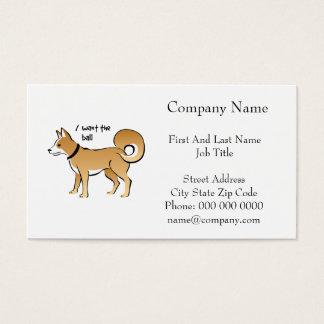Mascota de la búsqueda del ejemplo del perro de tarjetas de visita