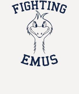 Mascota de la escuela de los Emus que lucha Polera