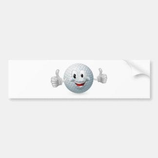 Mascota de la pelota de golf pegatina de parachoque