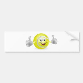 Mascota de la pelota de tenis etiqueta de parachoque