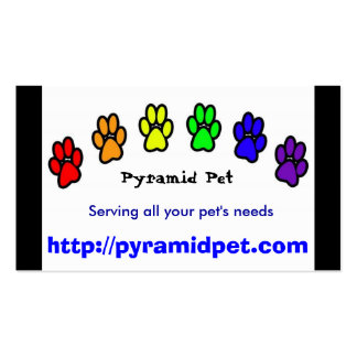 Mascota de la pirámide plantilla de tarjeta personal